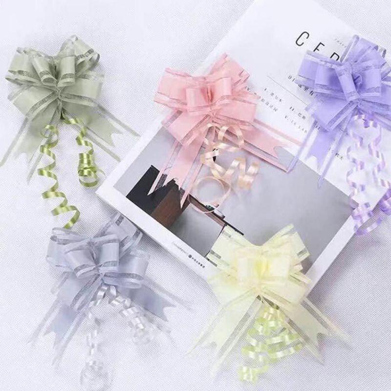 10-Pull-Bow-Flowers-Ribbons-Wedding-Party-Car-Door-Xmas-Gift-Wrap-Decoration thumbnail 8