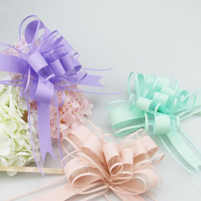 10-Pull-Bow-Flowers-Ribbons-Wedding-Party-Car-Door-Xmas-Gift-Wrap-Decoration thumbnail 9