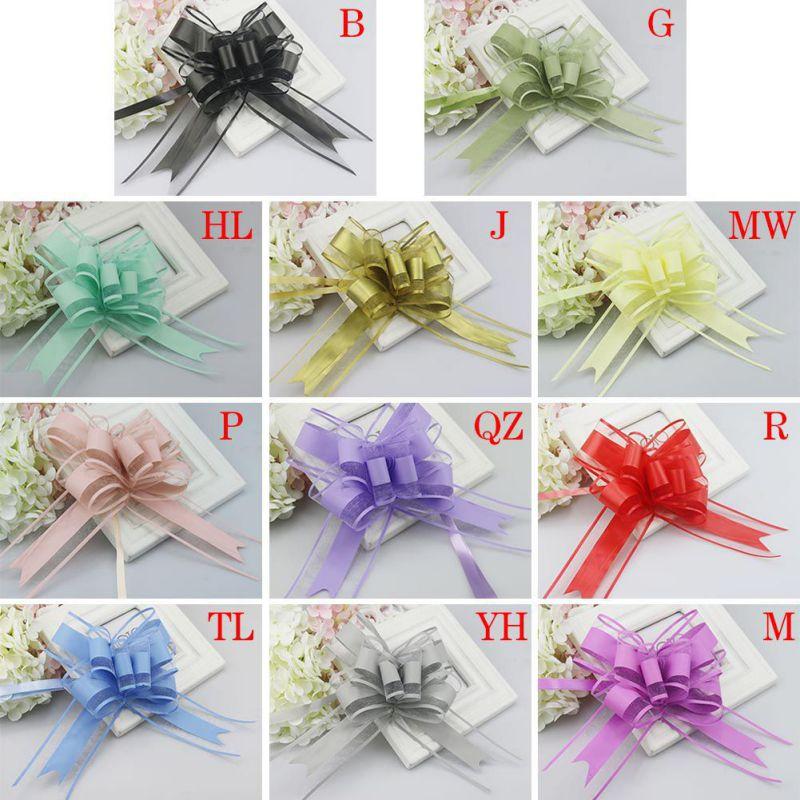 10-Pull-Bow-Flowers-Ribbons-Wedding-Party-Car-Door-Xmas-Gift-Wrap-Decoration thumbnail 10
